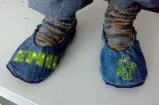 "Makerist - Pantoffel ""ava"" recycling aus Jeans für Jungs - 1"
