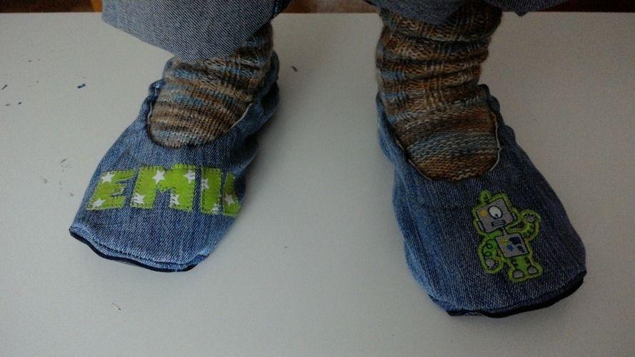 "Makerist - Pantoffel ""ava"" recycling aus Jeans für Jungs - Nähprojekte - 3"
