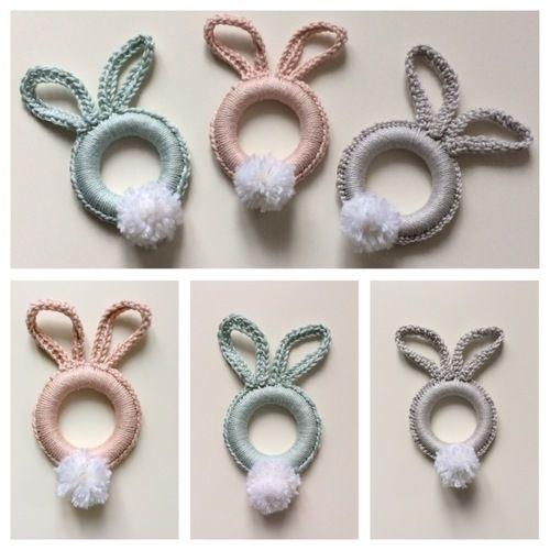Makerist -  Osterhasen -Ringe in verschiedenen Farben und Größen aus Baumwollgarn gehäkelt - Häkelprojekte - 1