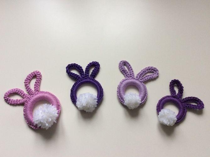 Makerist -  Osterhasen -Ringe in verschiedenen Farben und Größen aus Baumwollgarn gehäkelt - Häkelprojekte - 2