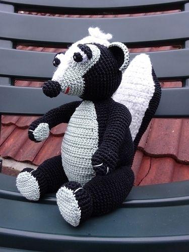 Makerist - Ein Stinktier zum Kuscheln :-) - Häkelprojekte - 2
