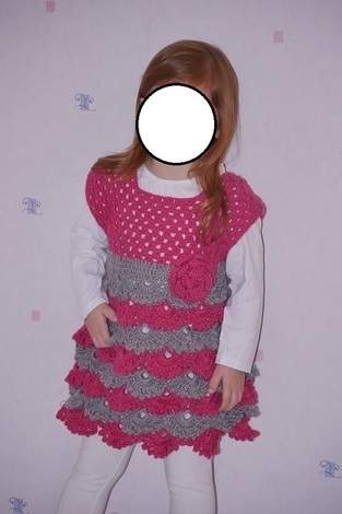 "Makerist - Robe au crochet point fantaisie ""éventail"" taille 3 ans  - 1"