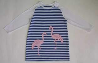 Makerist - Longshirt mit Flamingos - 1