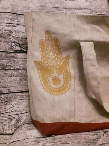 Makerist - Einkaufstasche mit Plotterdatei die Hand Fatimas von Min Zairi  - Textilgestaltung - 2