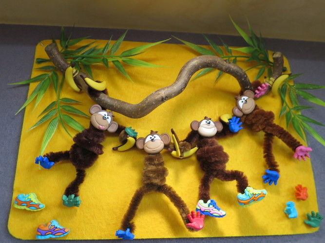 Makerist - Die Affen sind los: Lustiges Bild fürs Kinderzimmer - DIY-Projekte - 1