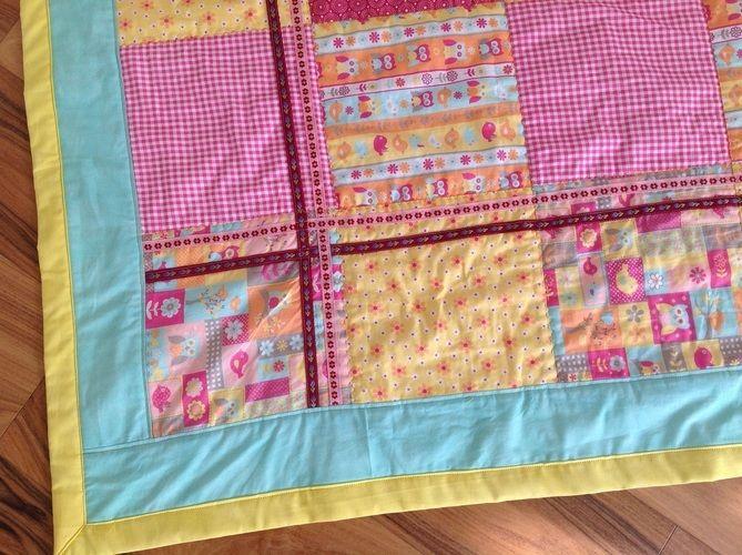Makerist - meine erste Baby-Patchworkkrabbeldecke für einen neuen Erdenbürger  - Nähprojekte - 2