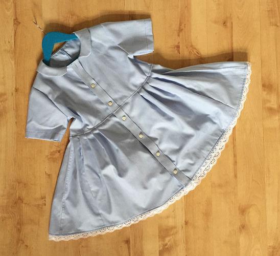 Makerist - ein Kinderkleid mit Peter Pan Kragen nach einem Shirtschnitt nähen - Nähprojekte - 1
