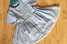 Makerist - ein Kinderkleid mit Peter Pan Kragen nach einem Shirtschnitt nähen - 1