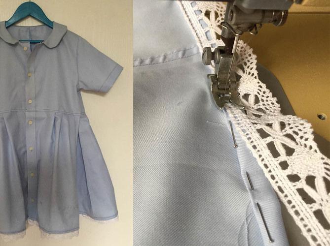 Makerist - ein Kinderkleid mit Peter Pan Kragen nach einem Shirtschnitt nähen - Nähprojekte - 2