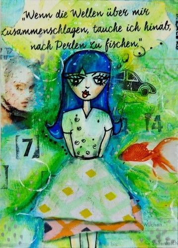 Makerist - Mixed Media Postkarte - DIY-Projekte - 1