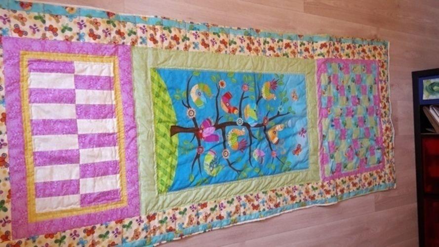 Makerist - fröhlicher Vorhang für Abstellkammertürchen - Patchwork-Projekte - 1