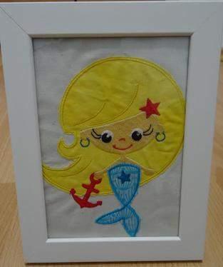 Makerist - Gestickte Meerjungfrau von Nikiko - 1