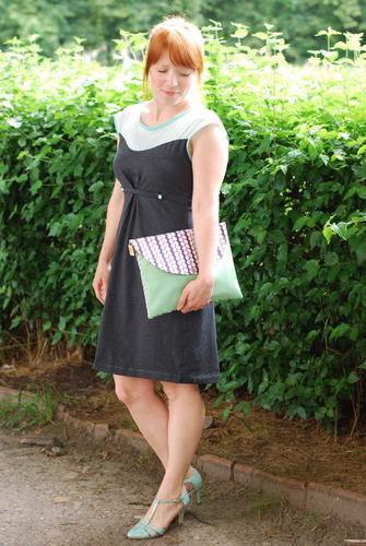 """Makerist - Kleid """"Hochsommer"""" aus Chiffon und Jersey mit passender Clutch - Nähprojekte - 1"""