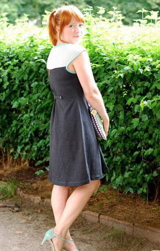 """Makerist - Kleid """"Hochsommer"""" aus Chiffon und Jersey mit passender Clutch - Nähprojekte - 2"""