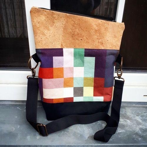 Makerist - Pixel Foldover - meine erste selbstgenähte Tasche - Nähprojekte - 1