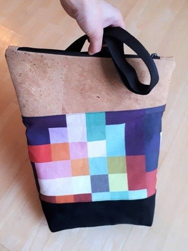 Makerist - Pixel Foldover - meine erste selbstgenähte Tasche - Nähprojekte - 2