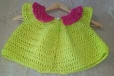Makerist - Cardigan court taille 3 ans crocheter en fil 100% polyester de chez GRUNDL couleur vert anis - 1