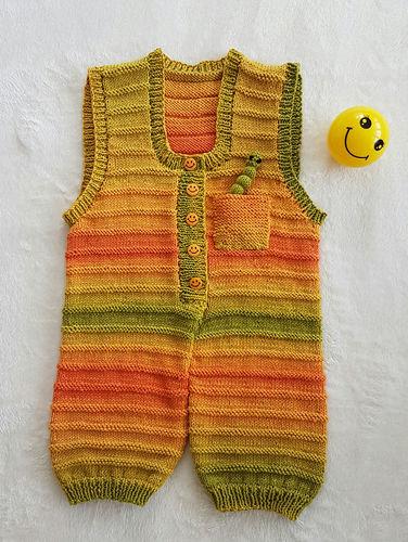 Makerist - Sunshine Smiles Playsuit in DK Cotton yarn - Knitting Showcase - 1