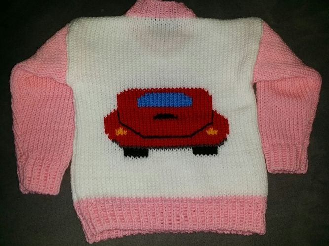 Makerist - Baby Pulli VW Käfer, aus Schachenmeyer BRAVO Wolle! - Strickprojekte - 2