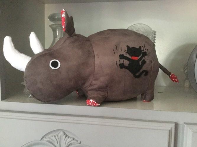 Makerist - Rhinocéros offerts à mes nièces et pour une naissance - Créations de couture - 2