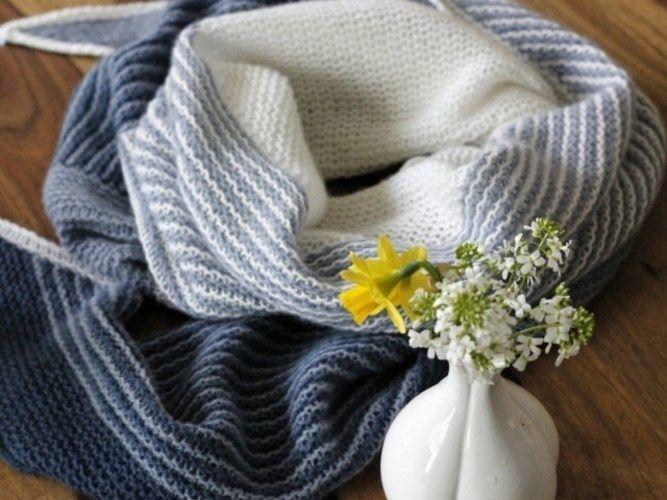 Makerist - Freitagsfarben-Tuch Jeans - Strickprojekte - 3