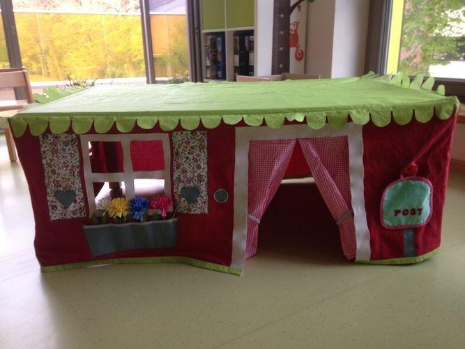 Makerist - Tischhusse Spielzelt für kleine Zwerge - Nähprojekte - 1