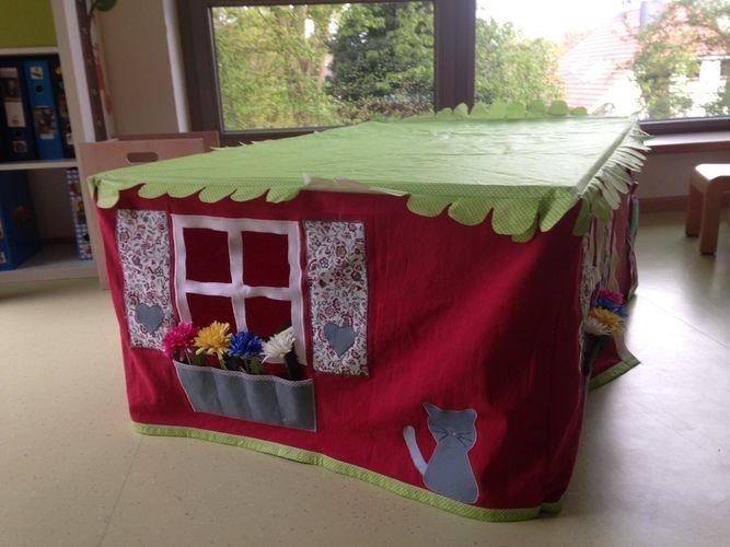 Makerist - Tischhusse Spielzelt für kleine Zwerge - Nähprojekte - 2