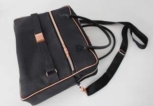 Makerist - Doctor's Bag Billy aus schwarzem Korkstoff und Kupferelementen - 1