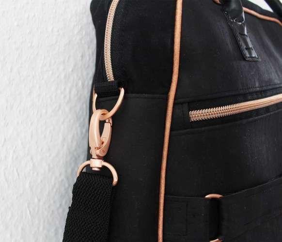 Makerist - Doctor's Bag Billy aus schwarzem Korkstoff und Kupferelementen - Nähprojekte - 2