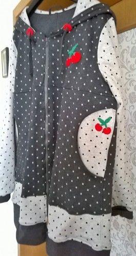 Makerist - Damenjacke aus Sweat mit gehäkelten Applikationen - Nähprojekte - 3