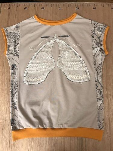 Makerist - Schmetterlingsflügel. T-Shirt aus Jersey für meine Tochter.  - Nähprojekte - 1