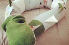 Makerist - Krokodil-Kissenrolle für Kinder/Babys  - 1