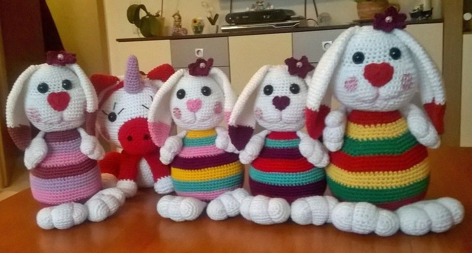 Makerist - Süße Hasenbande - Häkelprojekte - 1