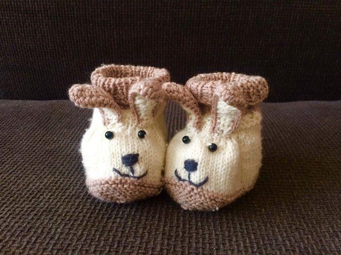 Makerist - Hasenschühchen für meinen kleinen Mann - Strickprojekte - 1