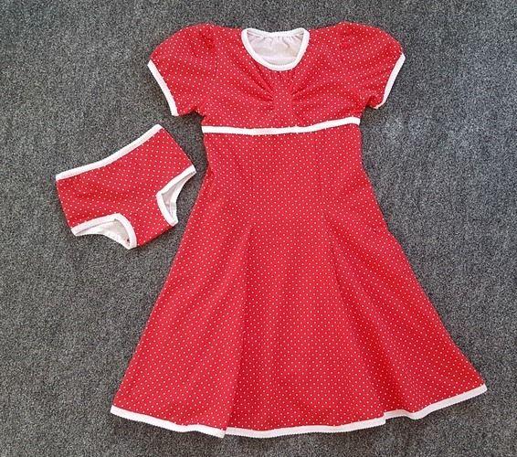 Makerist - Kleid Winterliebe mit passender Unterhose für die Tochter - Nähprojekte - 1