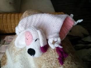 Schnuffeltuch Hund Häkelanleitung