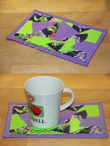 Makerist - DIY Mug Rug Crazy-Patch ebook PDF-Anleitung - Nähprojekte - 1