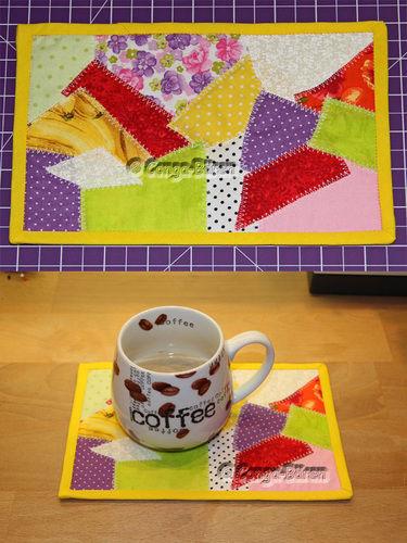 Makerist - DIY Mug Rug Crazy-Patch ebook PDF-Anleitung - Nähprojekte - 2