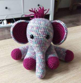 Kuscheltier Elefant Häkelanleitung