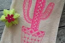 Makerist - Handtuch beplottet mit Kakteen Tangle Style nach MIN ZIARI - 1