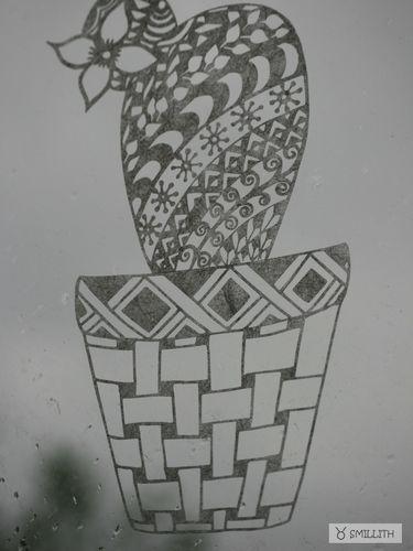 Makerist -   Plotterdateien Kakteen Tangle-Style dxf, svg, png  von mīn ziarī  - Textilgestaltung - 1