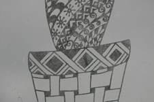 Makerist -   Plotterdateien Kakteen Tangle-Style dxf, svg, png  von mīn ziarī  - 1