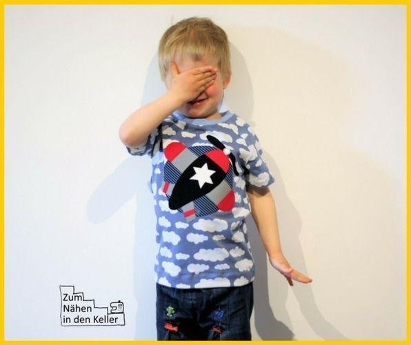 Makerist - Applikation Flugzeug auf Raglanshirt Kids - Nähprojekte - 1