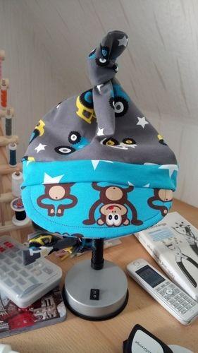 Makerist - Mütze für Zwerge, aus Jersey für meinen Neffen  - Nähprojekte - 1