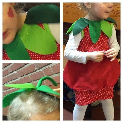 """Makerist - """"Mama, zu Karneval möchte ich Erdbeere sein!"""" - Nähprojekte - 1"""