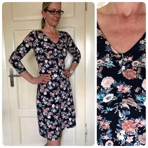 Makerist - Kleid von Rosa P. Ein Kleid vier Styles aus Baumwolljersey mit gerafftem Ausschnitt für mich. - Nähprojekte - 1