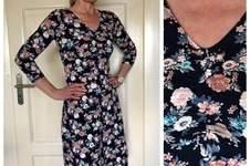Makerist - Kleid von Rosa P. Ein Kleid vier Styles aus Baumwolljersey mit gerafftem Ausschnitt für mich. - 1