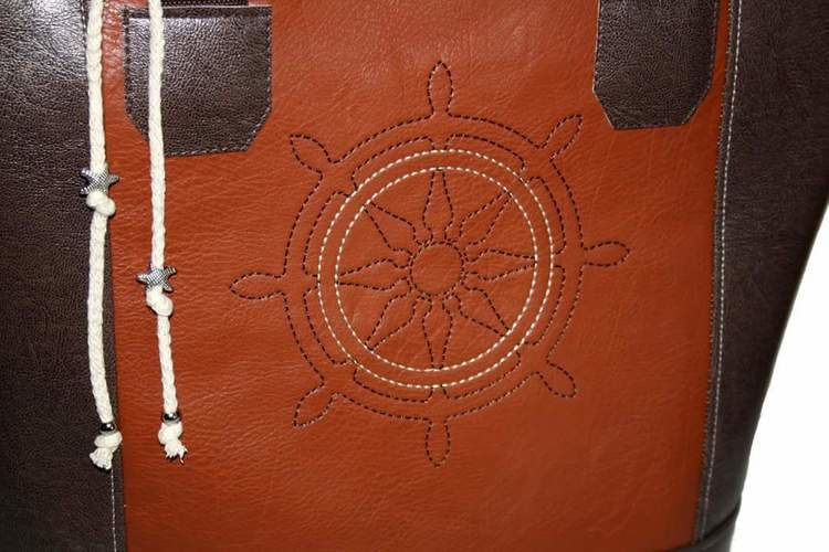 Makerist - Maritime Boat Bag mit Steuerrad bestickt - Textilgestaltung - 2