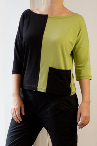 Makerist - Jersey Shirt mit Colorblocking - Nähprojekte - 1
