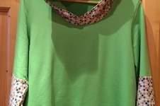 Makerist - Hoodie Milara aus Sternchen- Yersey und Apfelgrünen Sommersweat für mich genäht - 1
